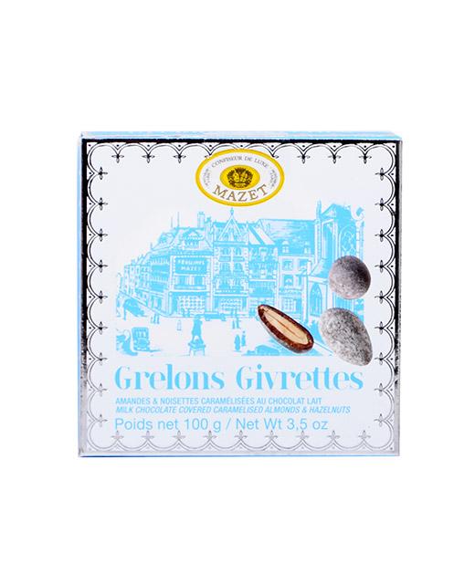 Spécialité de chocolat Grêlons et Givrettes - Mazet. Le duo irrésistible grêlons&givrettes pour les amateurs