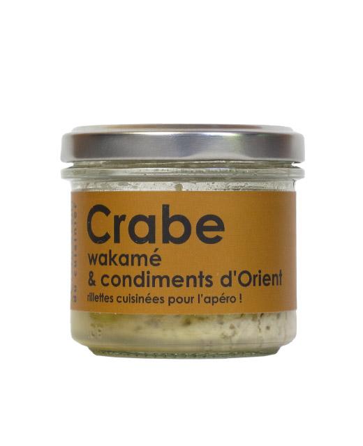 Rillettes de crabe, wakamé et condiments d?Orient - L´Atelier du Cuisinier. Parfait sur une tranche de pain.