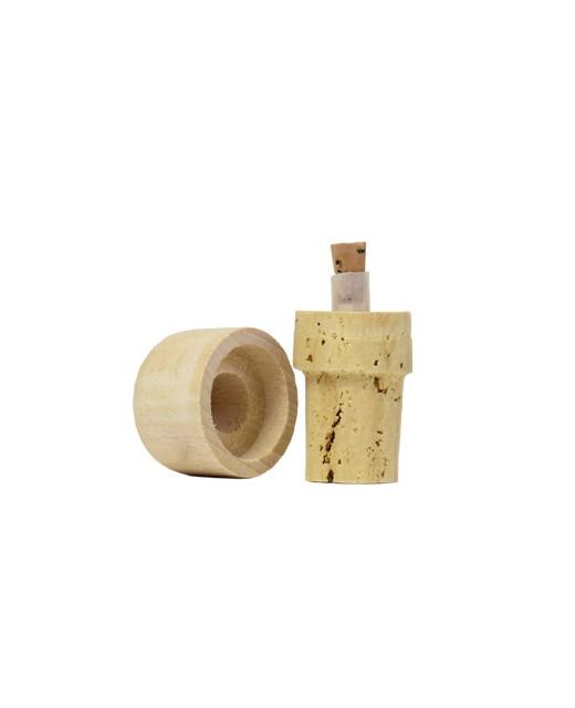 Bouchons verseurs liège et bois 25 cl - La Guinelle