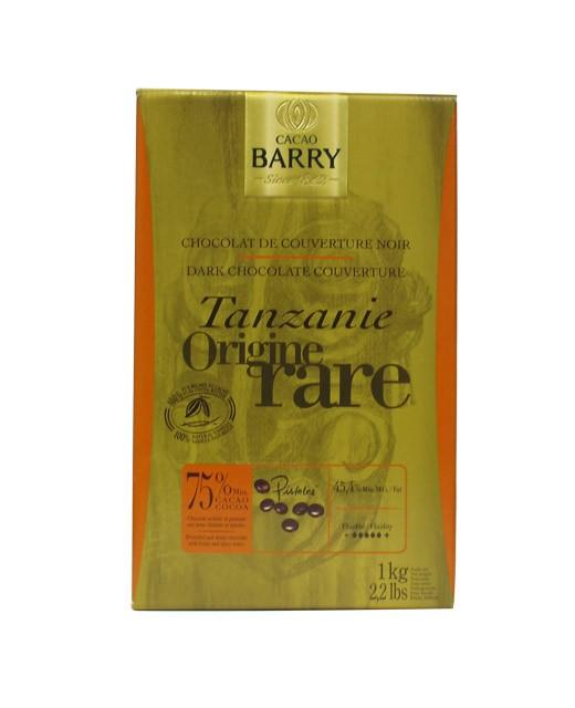 Chocolat de couverture noir de Tanzanie 75% - Barry