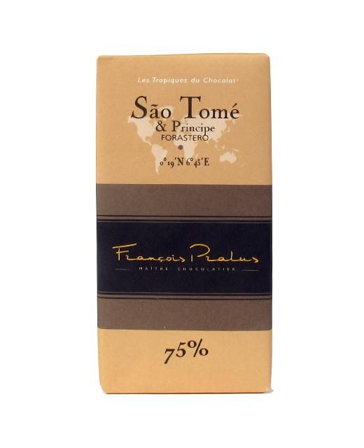 Tablette chocolat noir Sao Tomé - Pralus