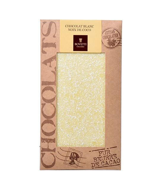 Tablette chocolat blanc - noix de coco - Bovetti