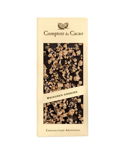 Tablette chocolat lait - cookie - Comptoir du Cacao