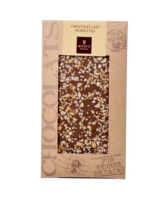 Tablette chocolat lait - noisettes - Bovetti