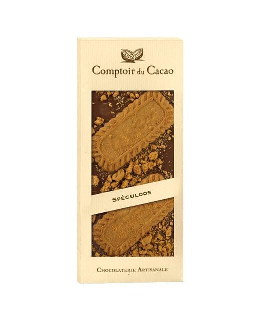 Tablette chocolat lait - spéculoos - Comptoir du Cacao