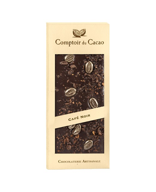 Tablette chocolat noir - café - Comptoir du Cacao