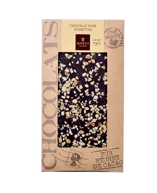 Tablette chocolat noir - noisettes - Bovetti