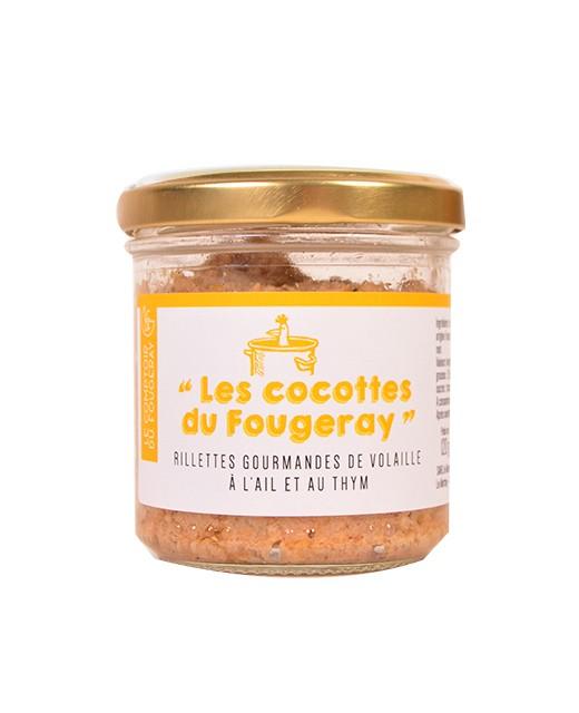 Rillettes gourmandes de volaille à l'ail et au thym - Le comptoir du Fougeray