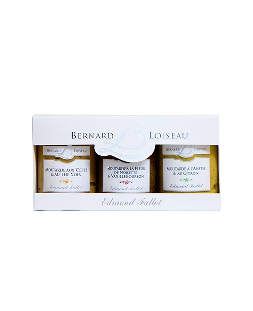 Coffret 3 moutardes Bernard Loiseau - Fallot