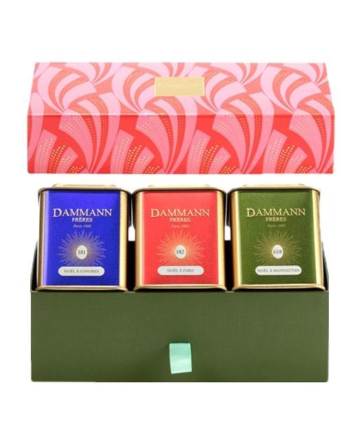 Coffret Christmas Tale - 3 boîtes métal Christmas tea  - Dammann Frères