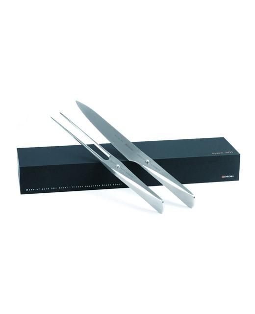 Coffret couteau et fourchette à viande Chroma - P517 - Chroma, Type 301 Design by F.A. Porsche