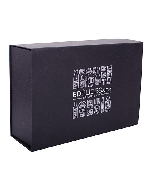 Coffret en carton noir Edélices - grand - Edélices