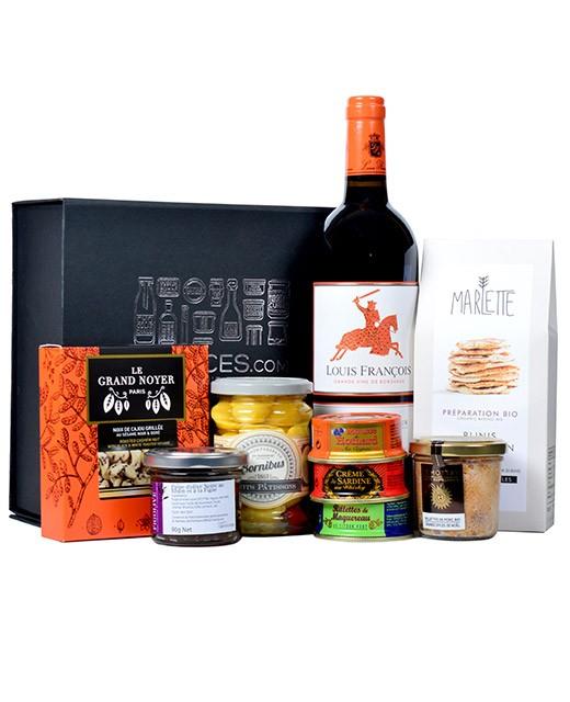 Coffret vin et tartinables - L'apéritif entre amis - Edélices