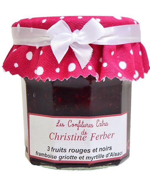 Confiture 3 fruits rouges et noirs - framboise, griotte et myrtille - Christine Ferber