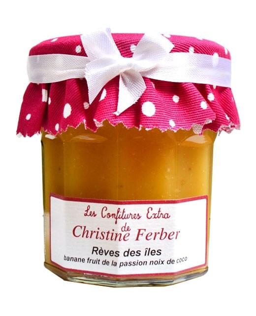 Confiture Rêves des îles - banane, fruit de la passion et noix de coco - Christine Ferber