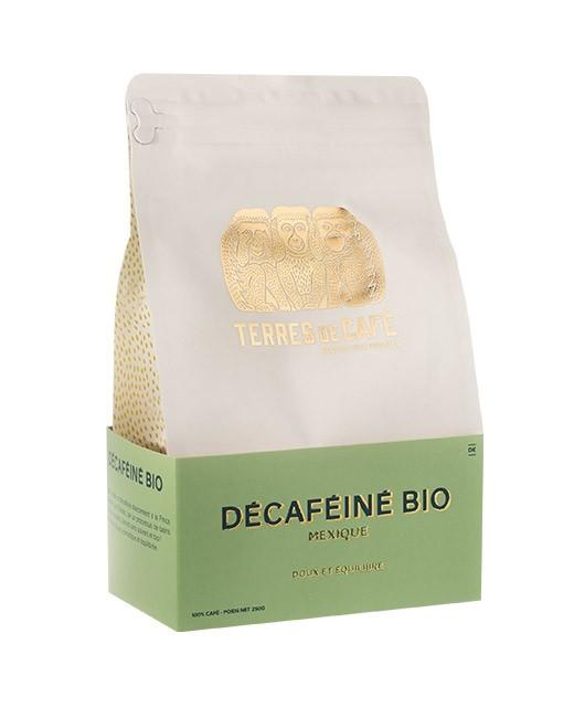 Café décaféiné bio - Mexique - grains - Terres de café