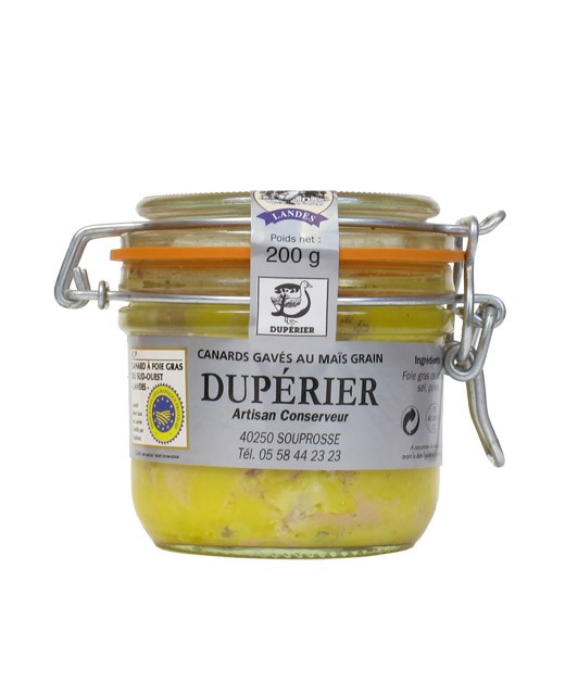 Foie gras de canard entier 200 g - Dupérier