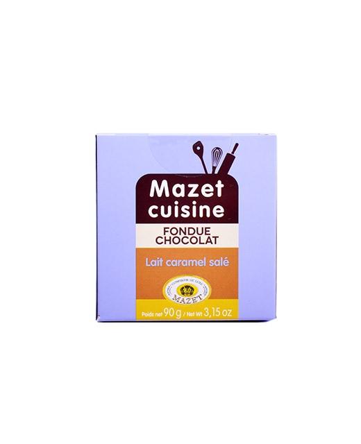 Fondue au chocolat - Lait et Caramel salé - Mazet