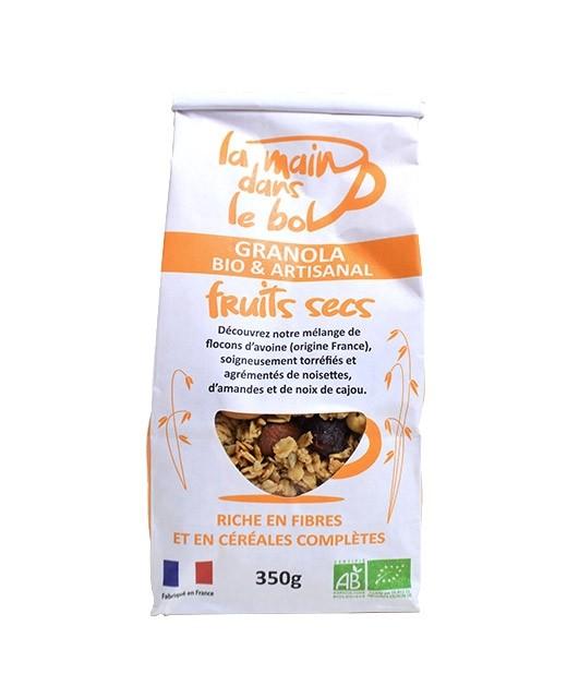 Granola bio - Fruits secs - La main dans le bol