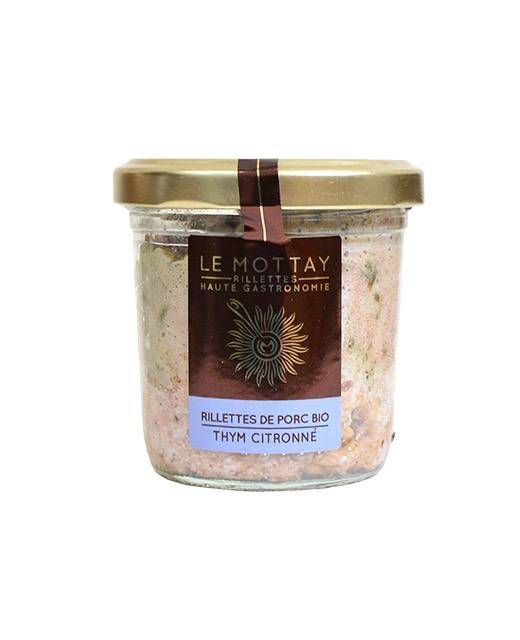 Rillettes de porc bio au thym citronné - Le Mottay Gourmand