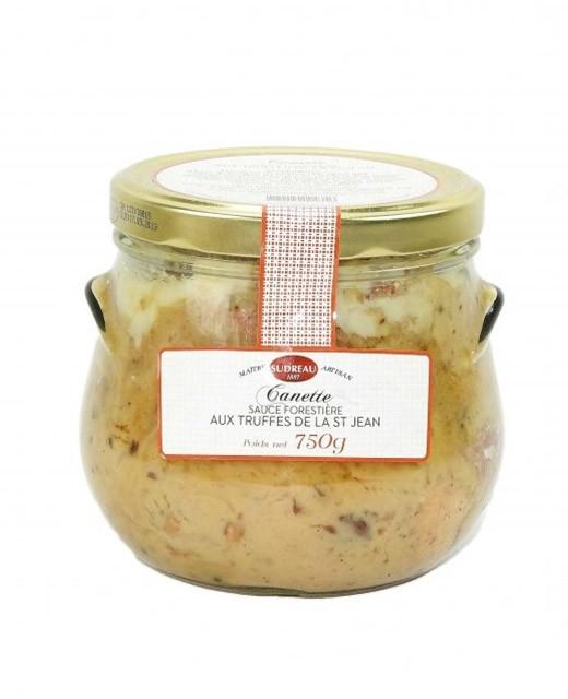 Mijoté de canette sauce forestière aux truffes de la Saint-Jean - Sudreau