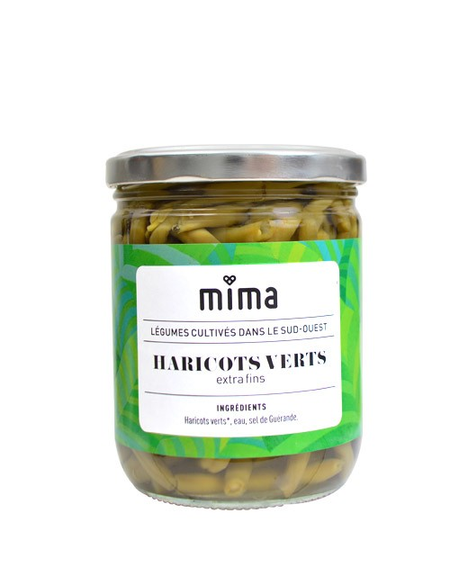 Haricots verts extra fins bio - Mima Bio