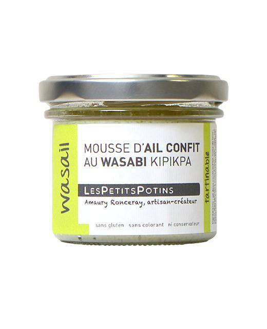 Mousse d'ail confit au wasabi kipikpa - Wasail - Les Petits Potins