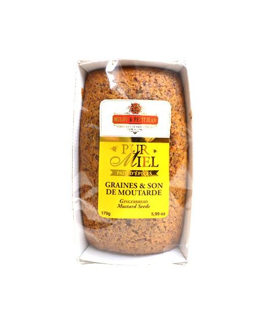Pain d'épices pur miel - Graines et son de moutarde - Mulot & Petitjean
