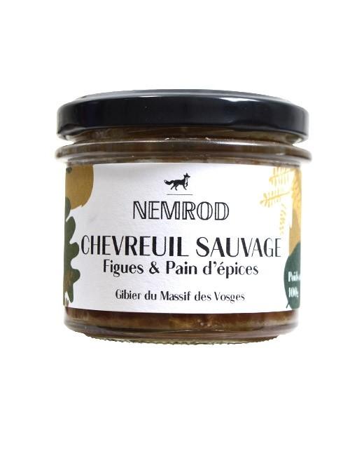 Terrine de chevreuil figues et pain d'épices - Nemrod