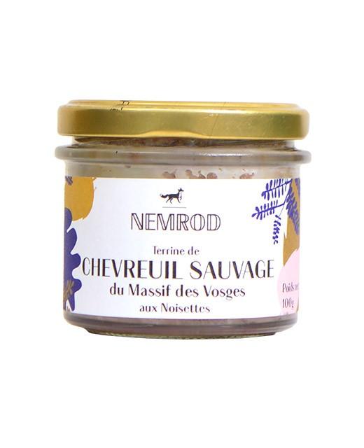 Terrine de chevreuil sauvage aux noisettes - Nemrod