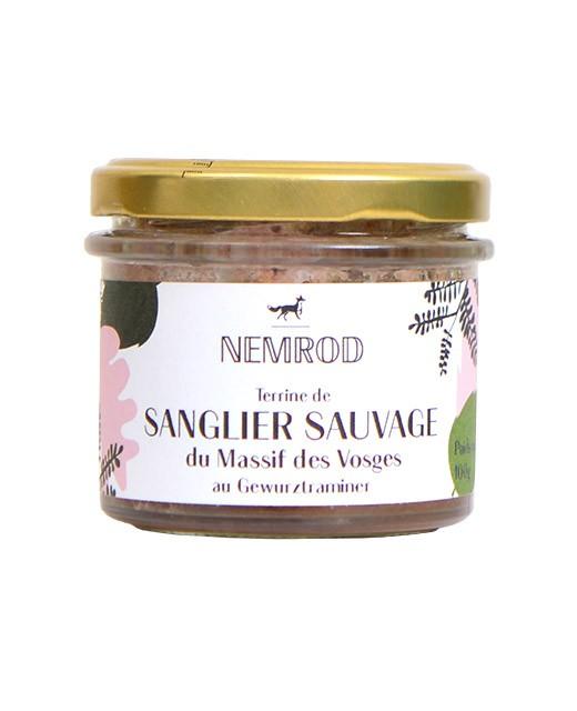 Terrine de sanglier sauvage au Gewurztraminer - Nemrod