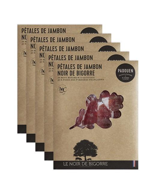 Pétales de Jambon de porc noir de Bigorre - lot de 5 - Padouen