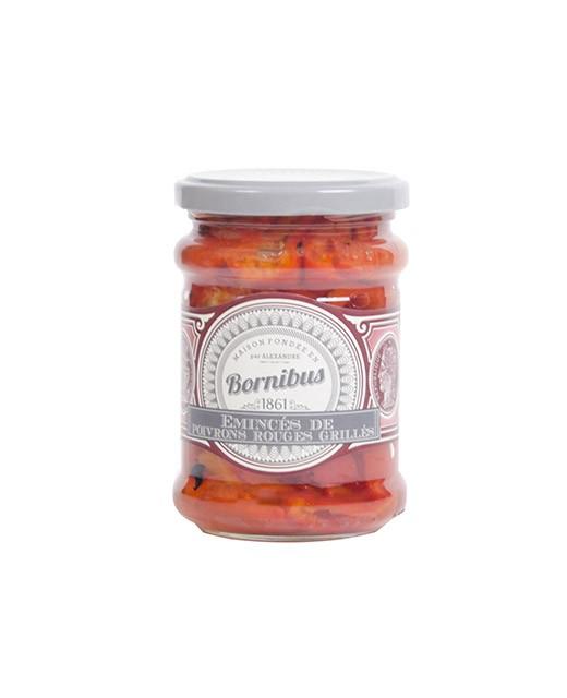 Emincé de poivrons rouges grillés - Bornibus