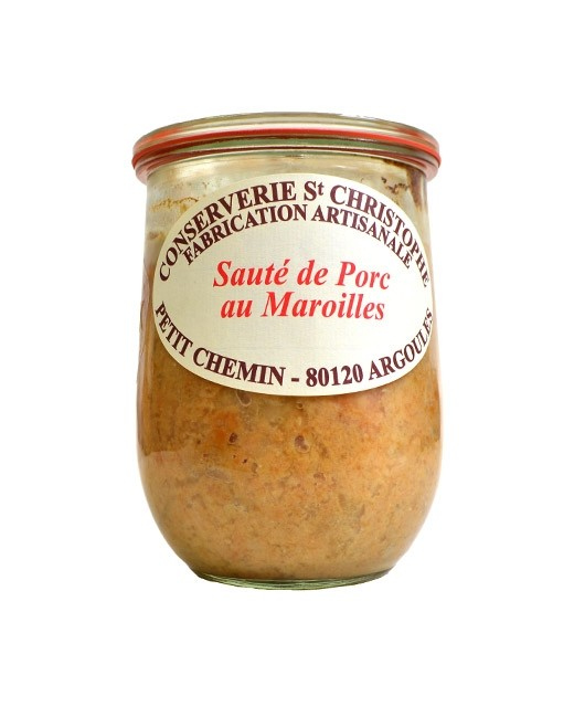 Plat cuisiné Sauté de porc au Maroilles - Conserverie Saint-Christophe