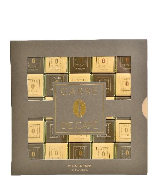 Napolitains carré de café pur Arabica x25 - Pralus