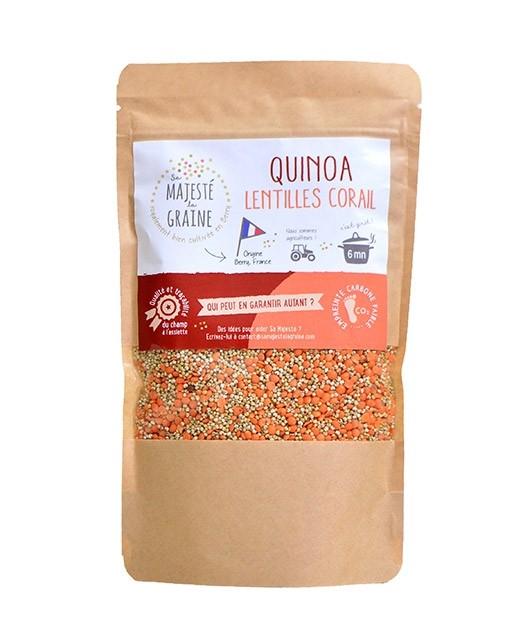 Mélange quinoa lentilles corail - Sa majesté la graine