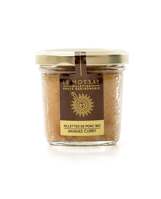 Rillettes de porc bio ananas curry - Le Mottay Gourmand