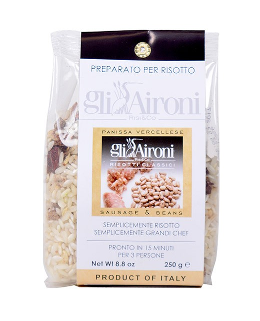 Risotto à la saucisse et aux haricots - Gli Aironi