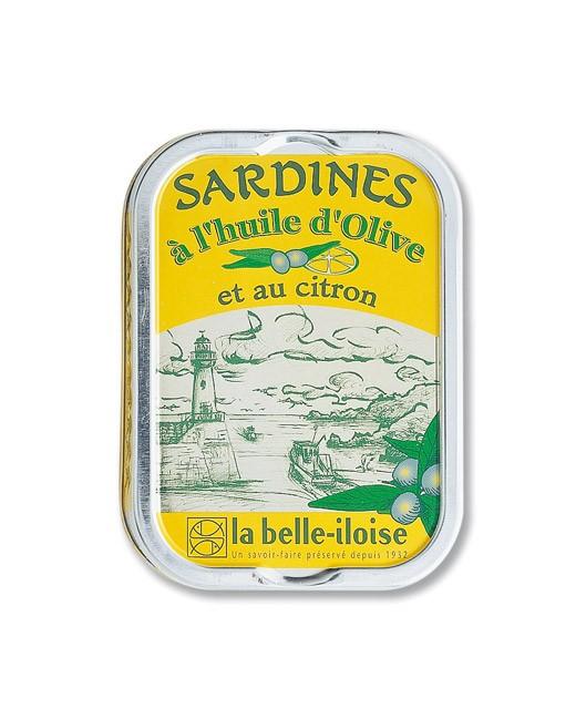 Sardines  à l'huile d'olive et au citron - La Belle-Iloise