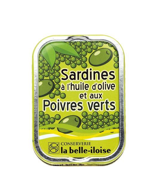 Sardines à l'huile d'olive et poivres verts - La Belle-Iloise