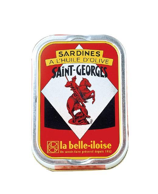 Sardines à l'huile d'olive vierge extra Saint Georges - La Belle-Iloise