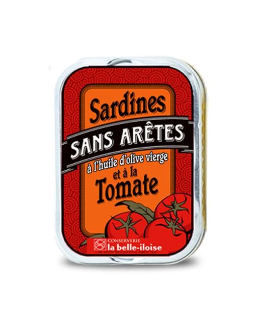 Sardines sans arêtes à l'huile d'olive et à la tomate - La Belle-Iloise