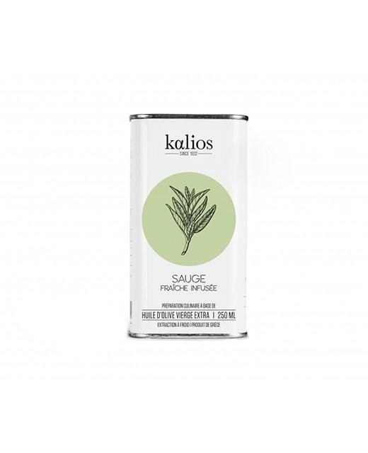 Huile d'olive infusée à la sauge - Kalios
