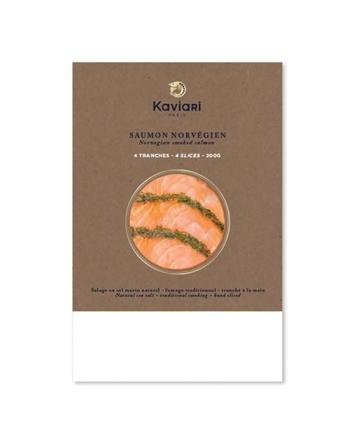 Saumon norvégien mariné a l'aneth – tranché  - Kaviari