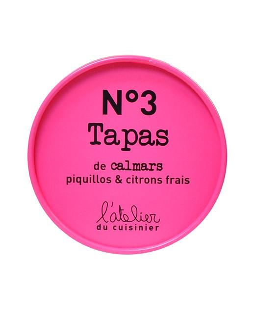 Tapas N°3 - Calmars, piquillos et citrons frais - L'Atelier du Cuisinier