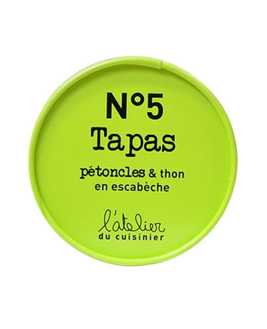 Tapas N°5 - Pétoncles et thon en escabèche - L'Atelier du Cuisinier
