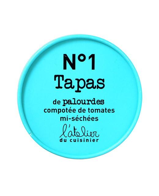 Tapas N°1 - Palourdes et compotée de tomates mi-séchées - L'Atelier du Cuisinier