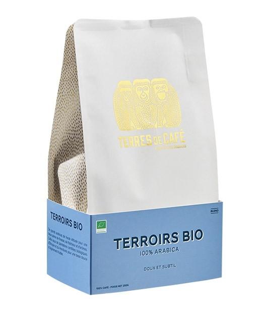 Café organic expresso - 100% arabica - grains - Terres de café