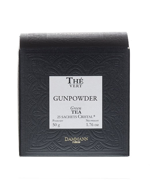 Thé Gunpowder - sachet cristal - Dammann Frères