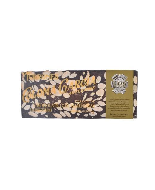 Turron- Tablette de chocolat noir aux amandes Marcona - Coloma Garcia